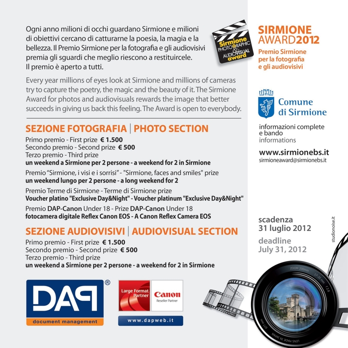Sirmione Award 2012 flyer